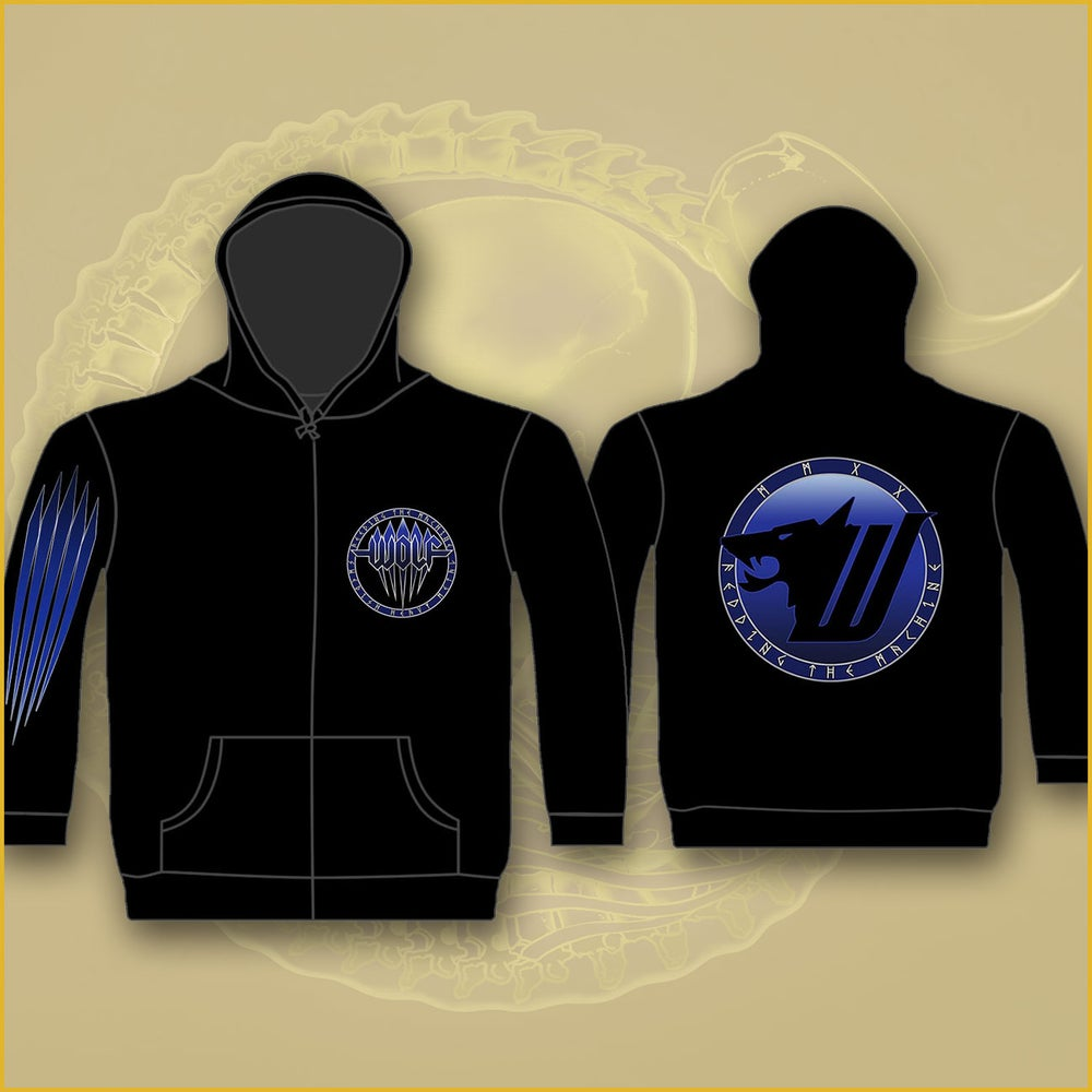 Image of Zip Hood - Blue WOLF
