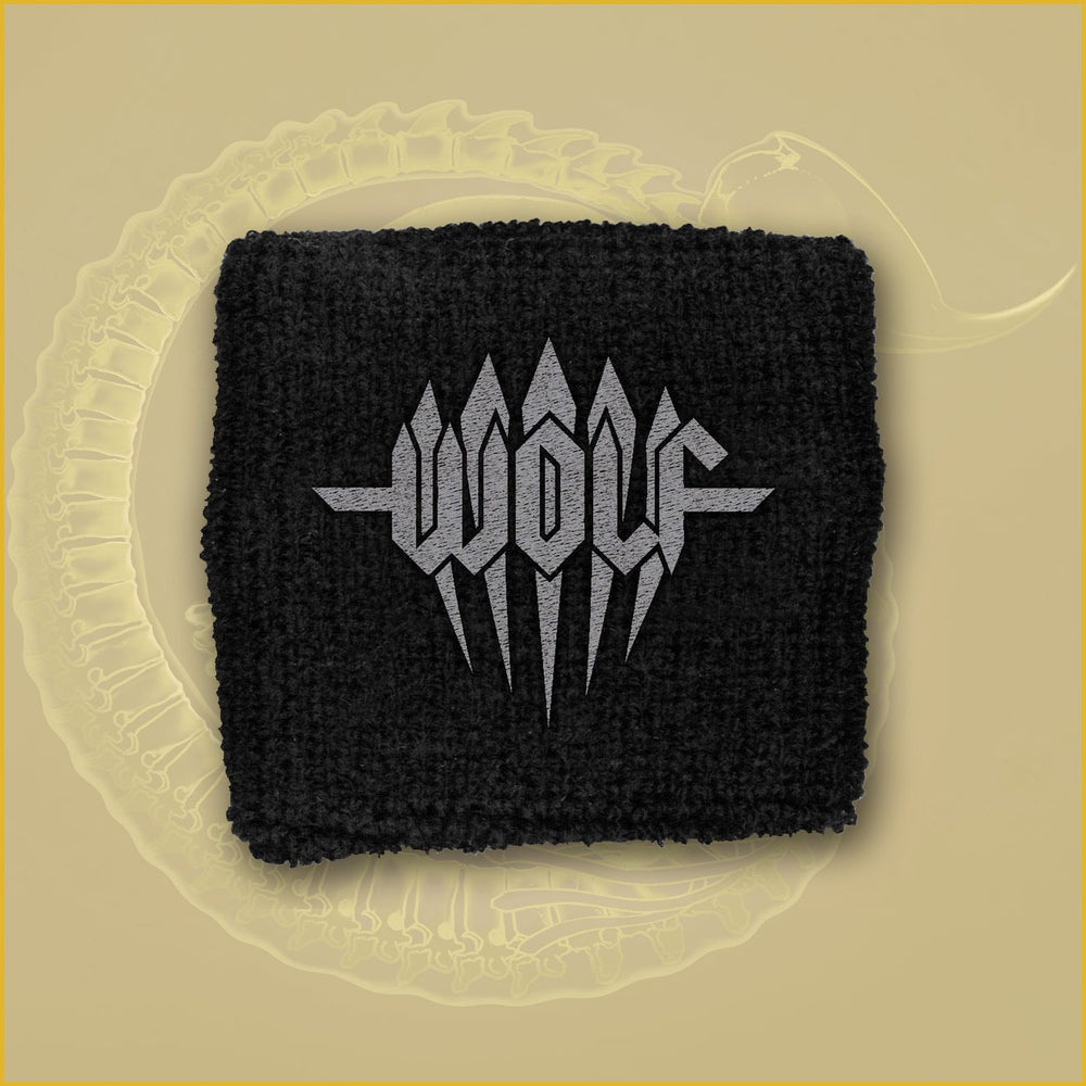Image of Wristband - Grey embroidered logo.