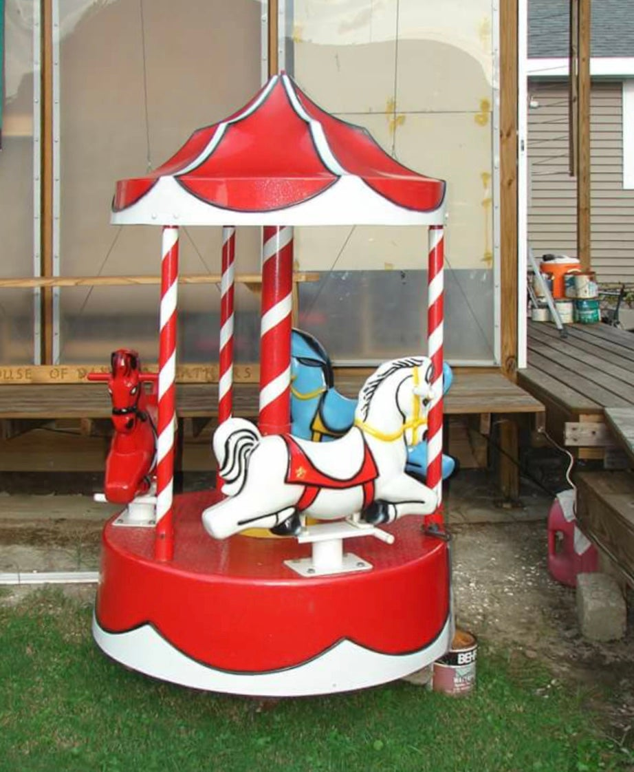 Kiddie 3 horse Carousel (electric)