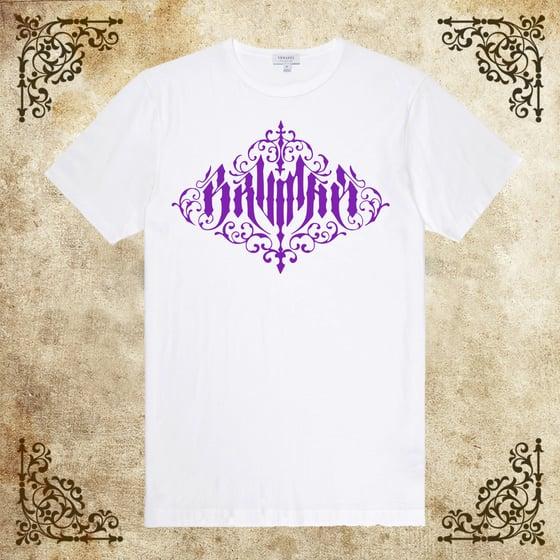 Image of T-SHIRT White (Purple Logo)