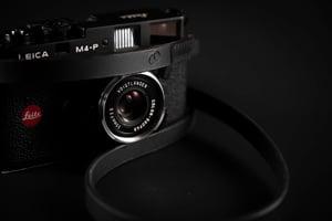 Image of Leather camera strap / Black Story