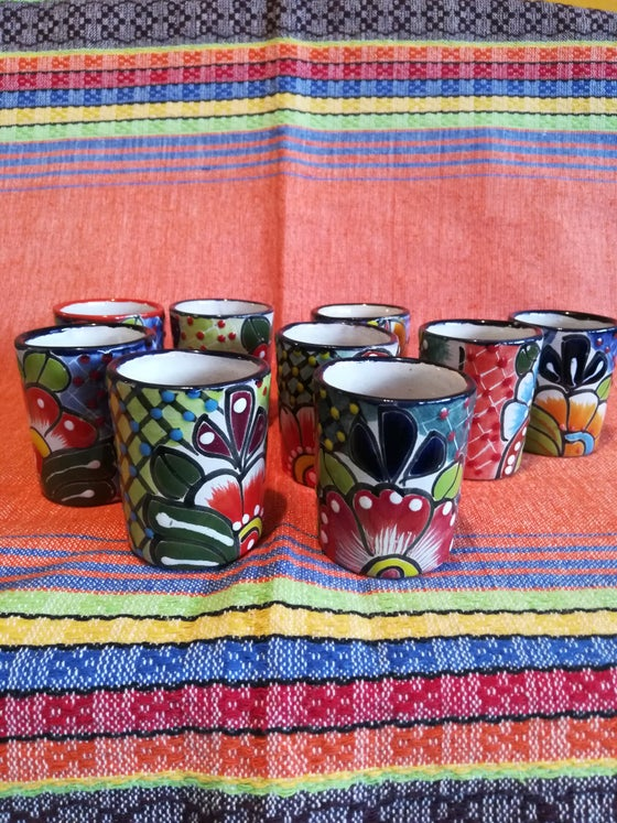 Image of Talavera shot glasses