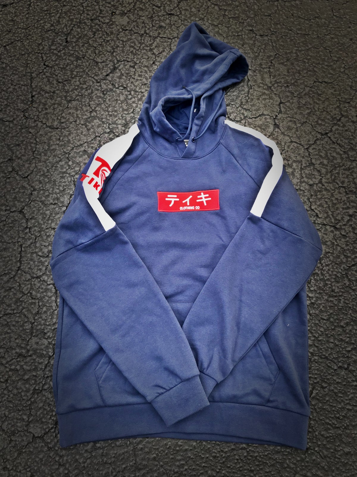 Image of TIKI CLOTHING CO Japan Box Logo Pullover Hoodie