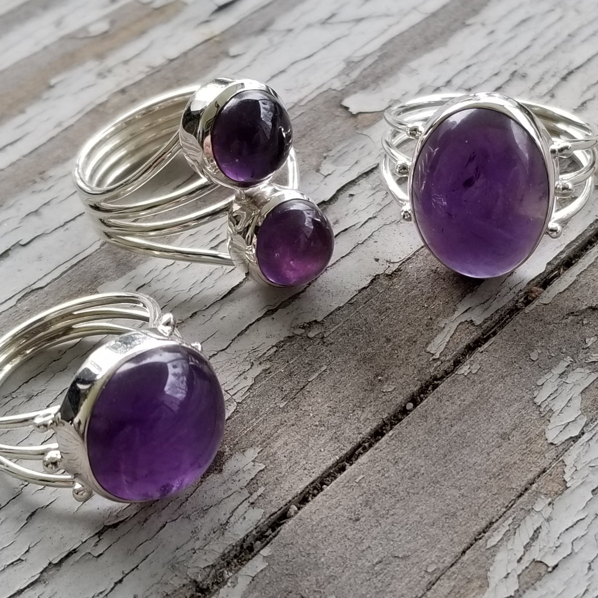 Image of Mystic Ring Collection - Amethyst in Sterling