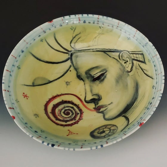 Image of Spiral Tounge Portrait  Porcelain Bowl