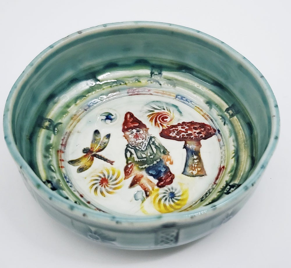 Image of Woodland  Gnome Porcelain Dish