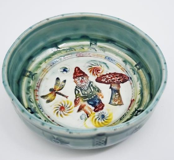 Image of Woodland  Gnome Porcelain Dish