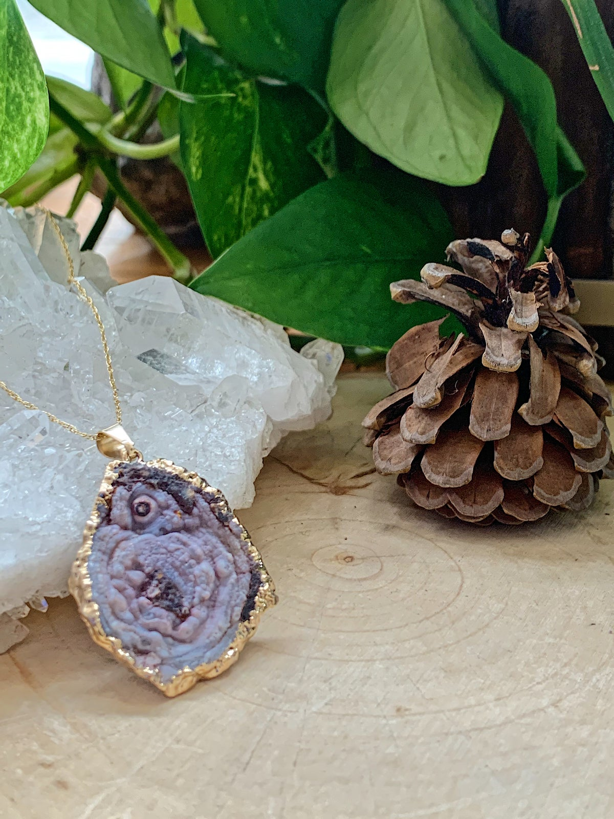 Image of Druzy Gold Necklaces
