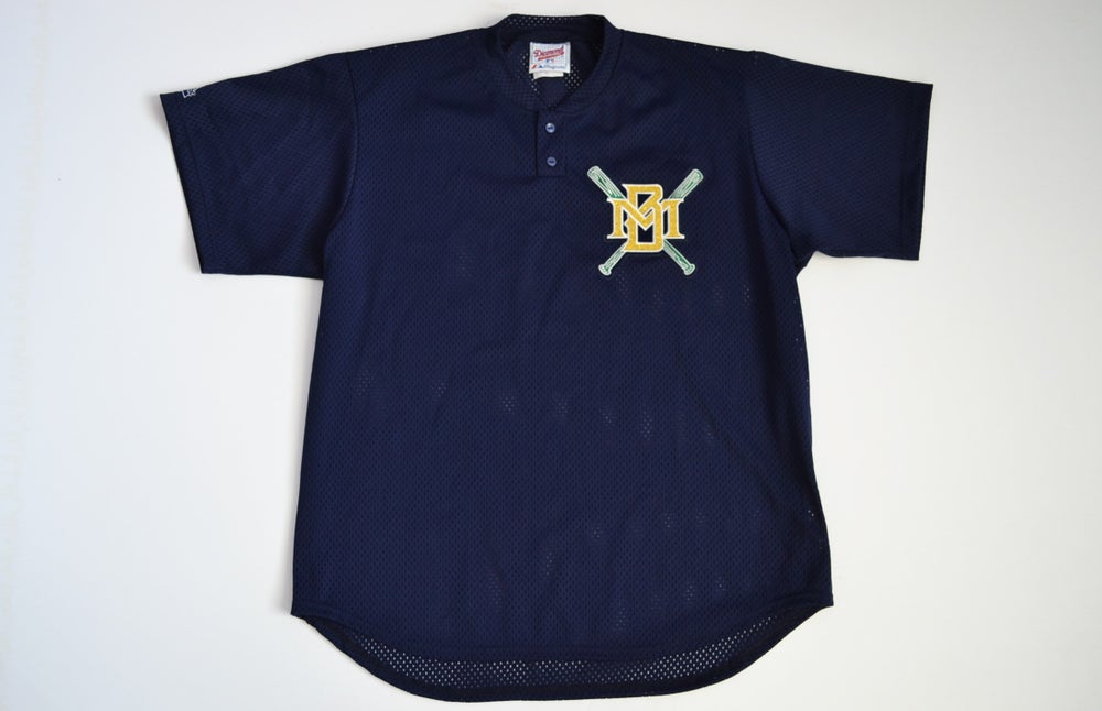 Image of Vintage 1990's Milwaukee Brewers Majestic Batting Practice Jersey Sz.XL