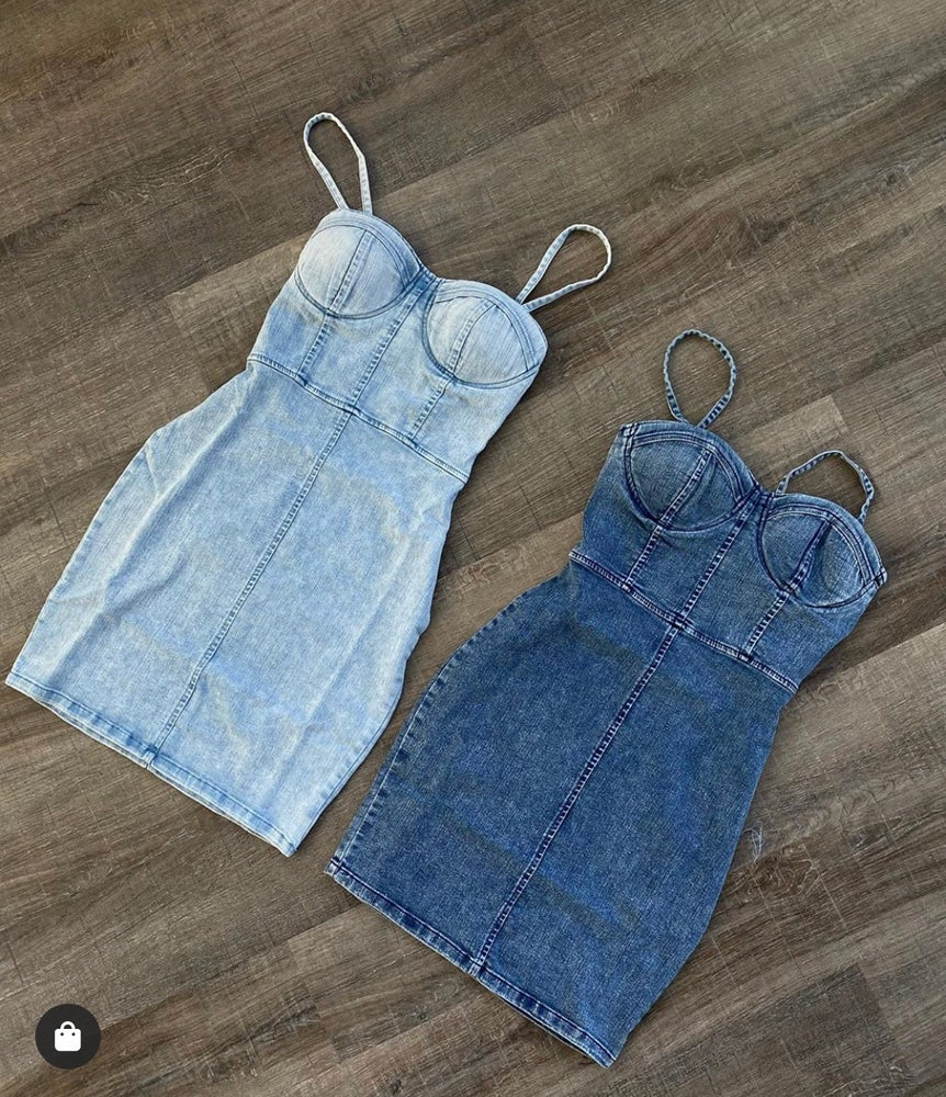 Image of Good girl denim mini dress