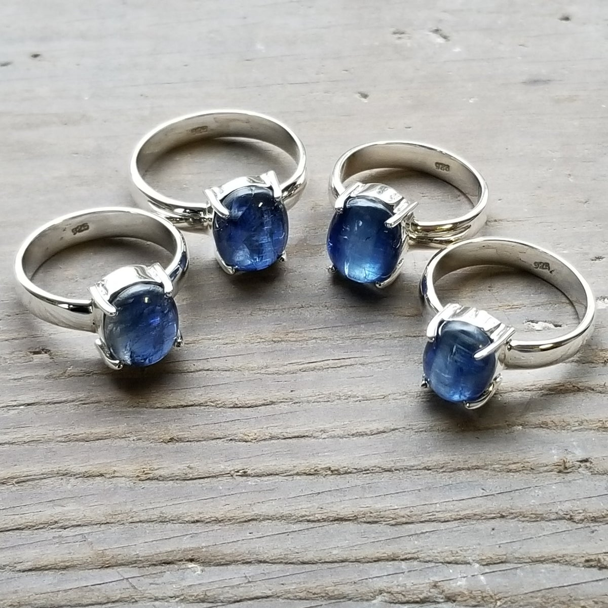 Image of Captive Ring - Blue Kyanite in Sterling