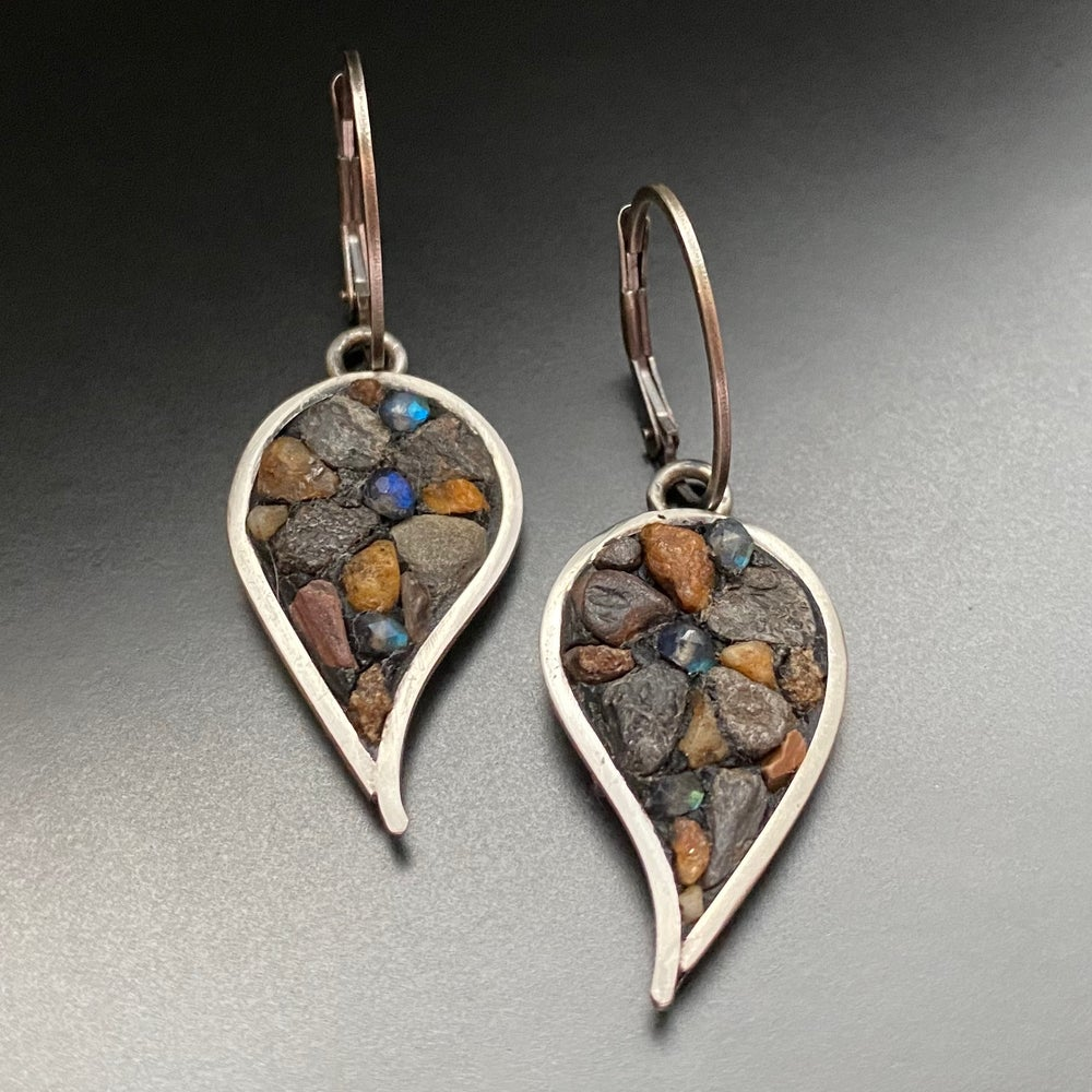 Image of Leaf and Labradorite Earrings