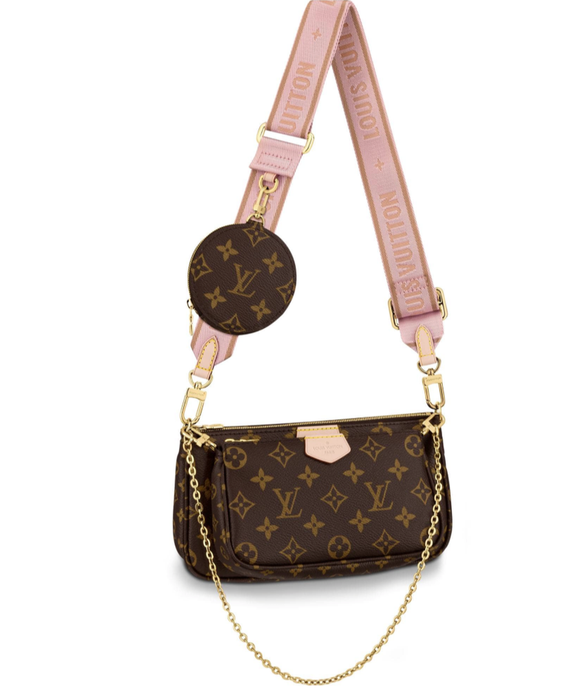 Image of Louis Vuitton Pochette Multi Brown Monogram Canvas Cross Body Bag