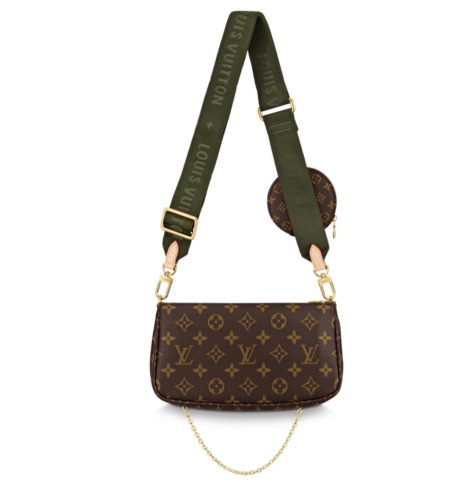 Image of Louis Vuitton Pochette Multi Khakhi Monogram Canvas Cross Body Bag
