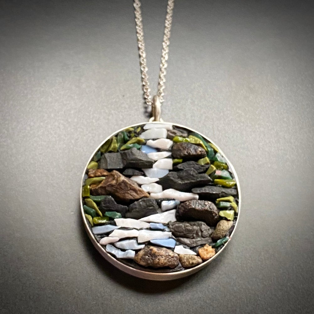 Image of Waterfall Micro Mosaic Pendant