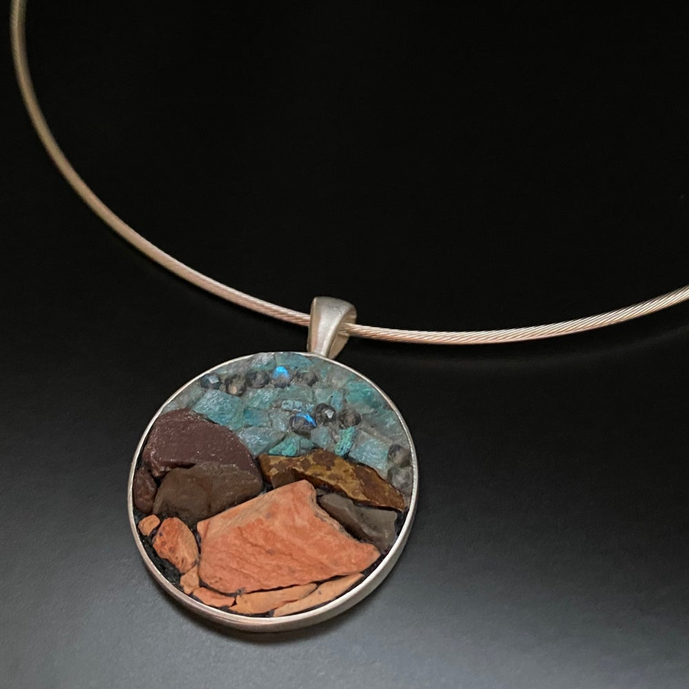 Image of Arizona Mountains Micro Mosaic Pendant