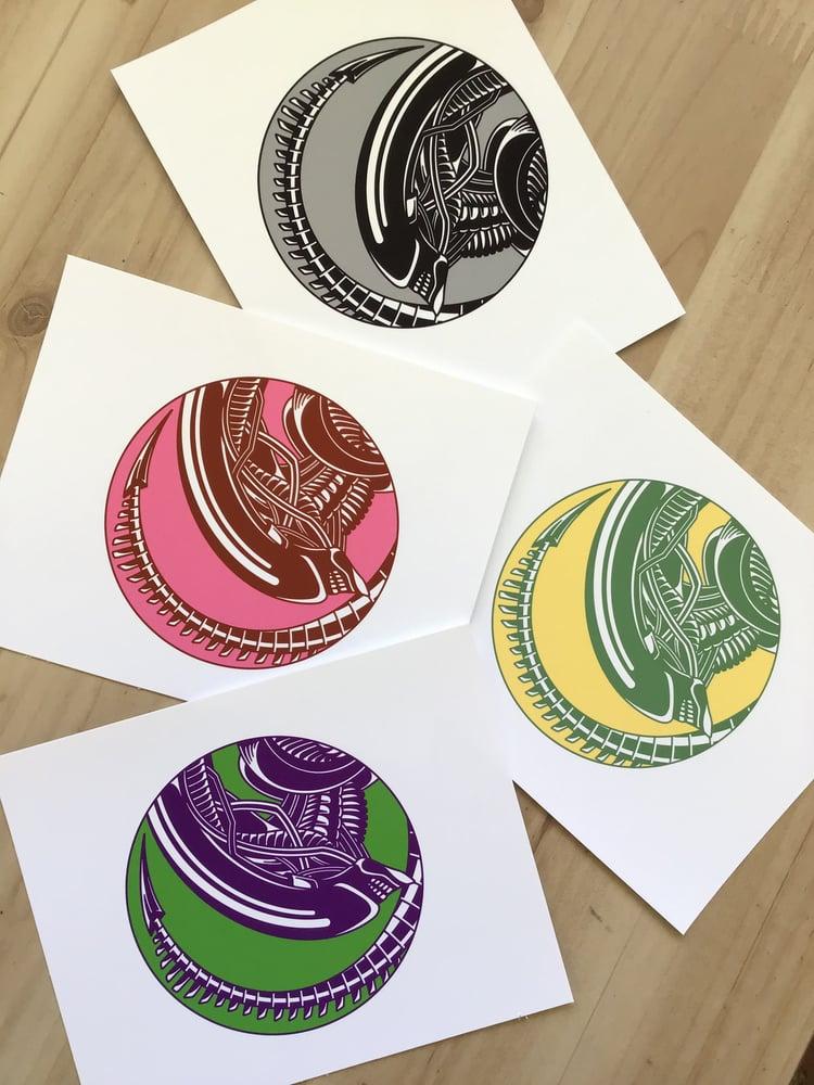 Image of Xenomorph Mini Art Print