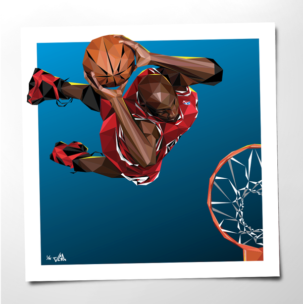 "Image of JCRo - HANGTIME 20"" print - limited edition (blue)"