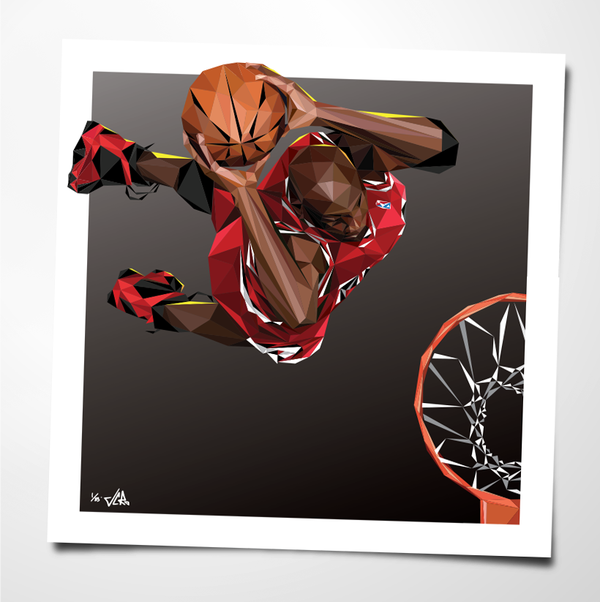 "Image of JCRo - HANGTIME 20"" print - limited edition (black)"