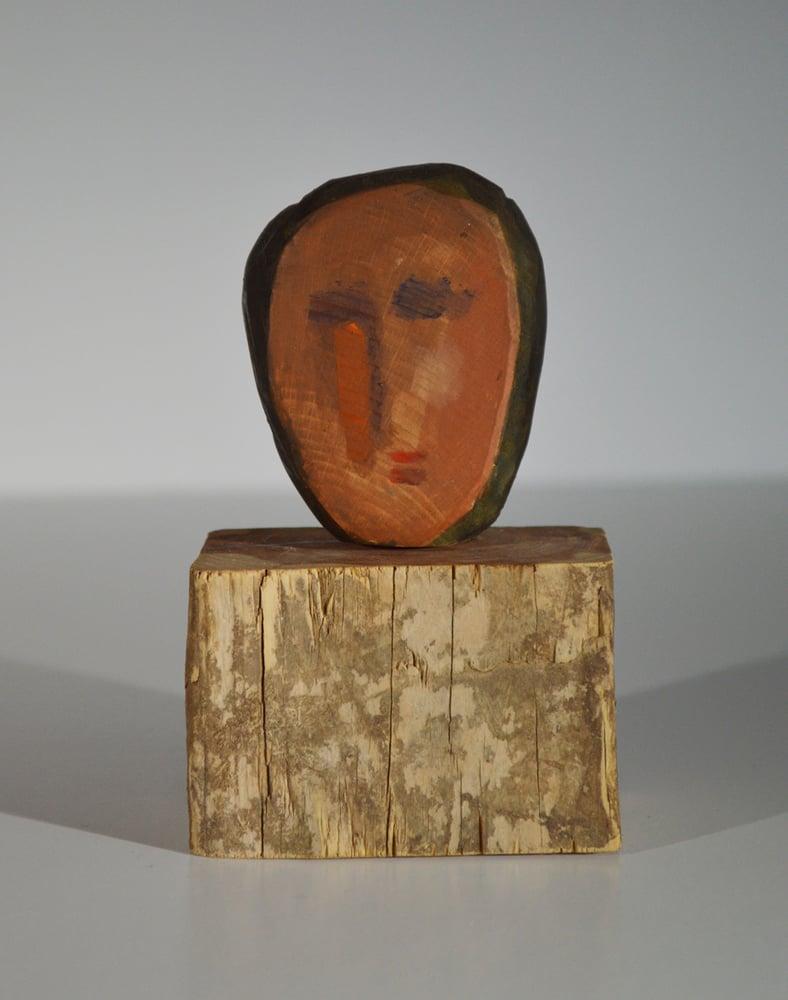 Image of (Sold) WOOD CARVING - deux visages