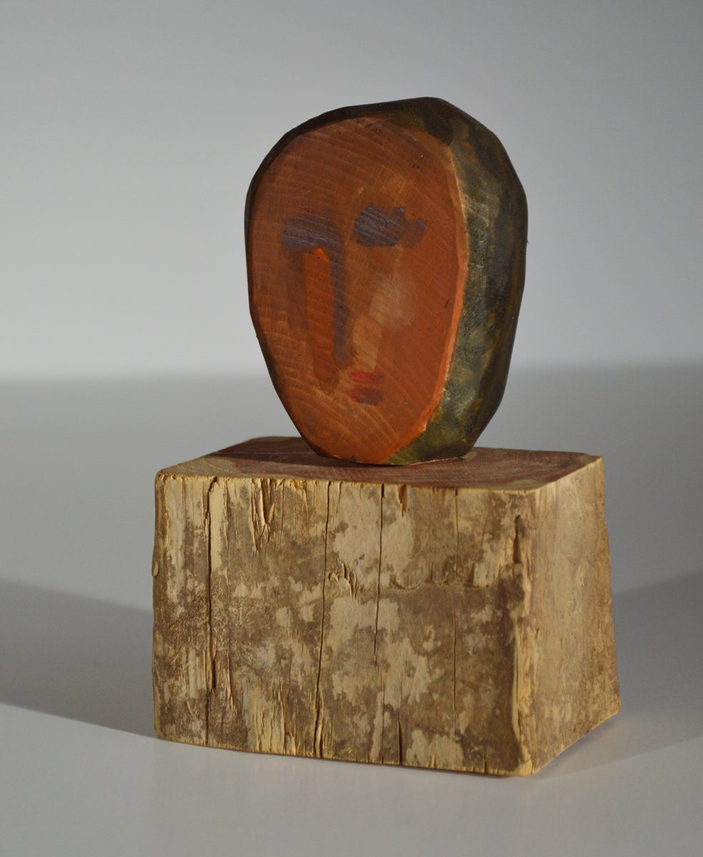 Image of (Sold) WOOD CARVING - deux visages