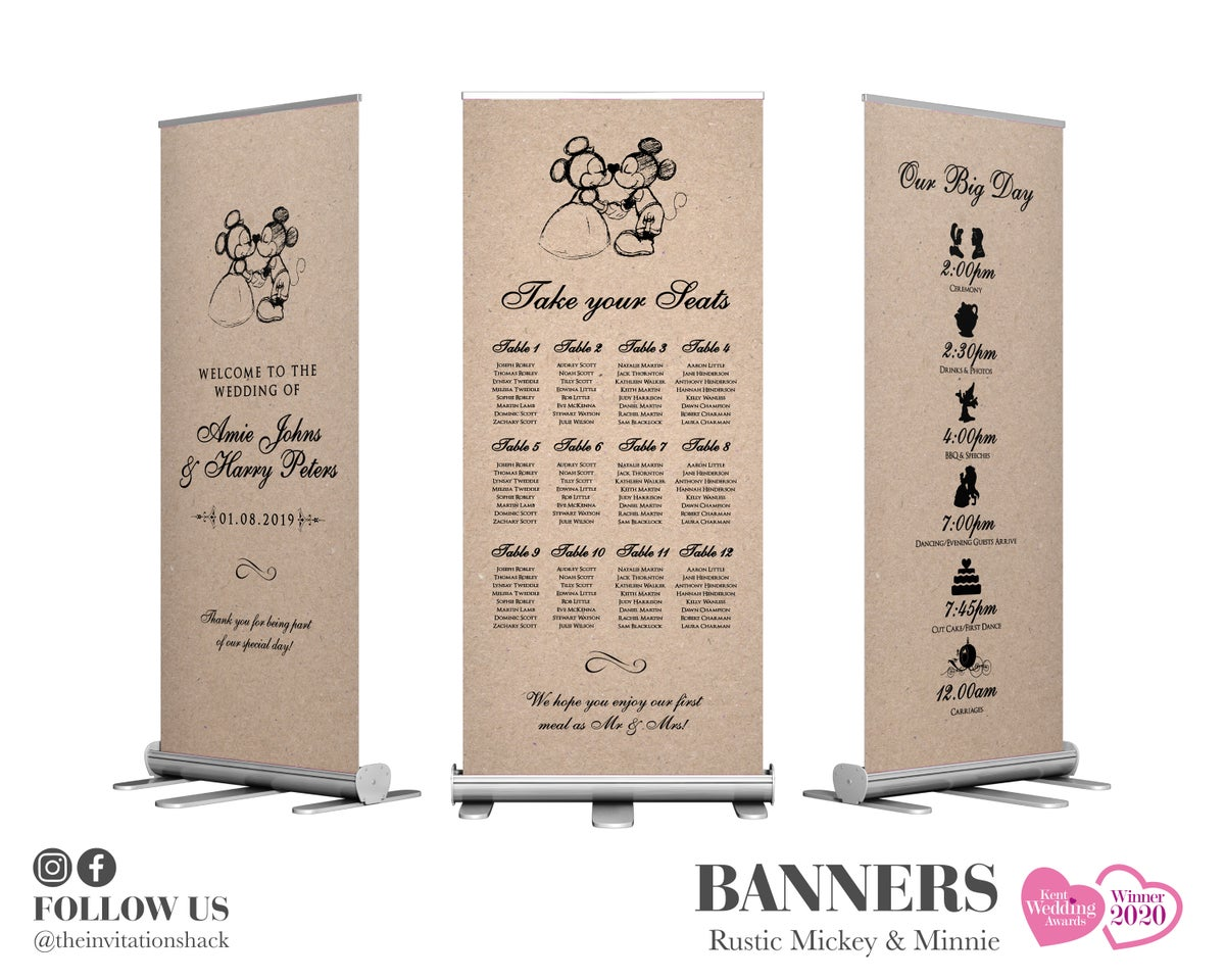 Rustic Mickey & Minnie Banners
