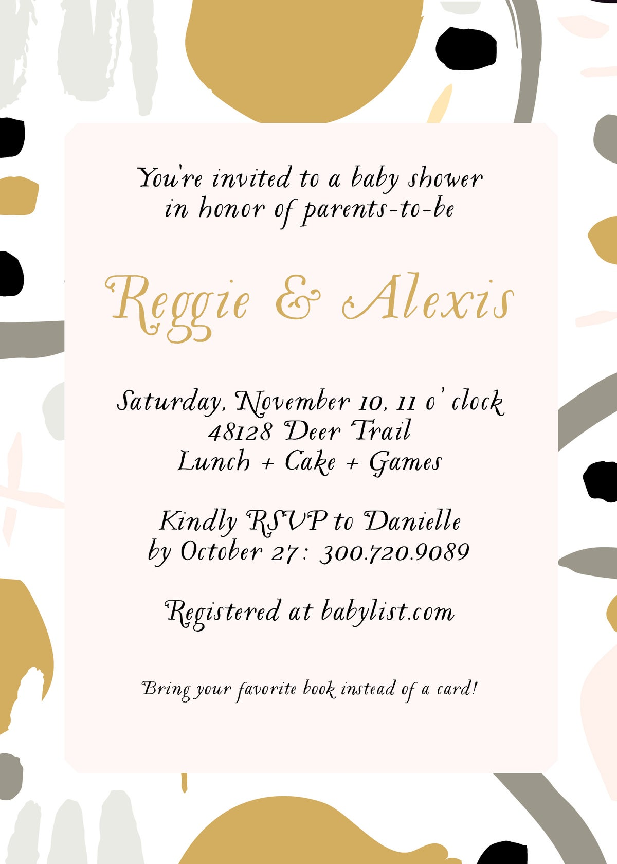 Abstract Art Baby Shower