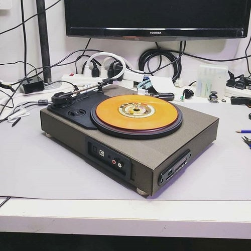 Image of UMS DIY Portable Turntable Kit (Box enclosure not incuded)