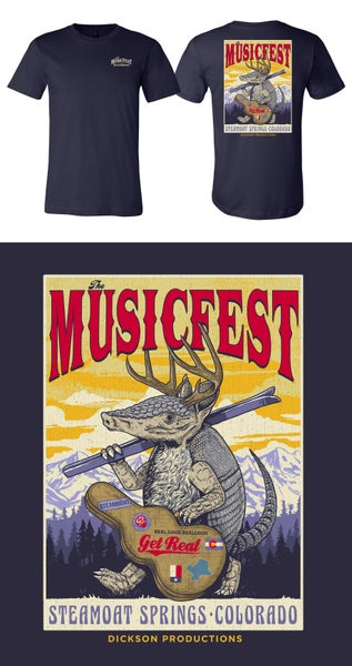 Image of Navy Short Sleeve Ski design