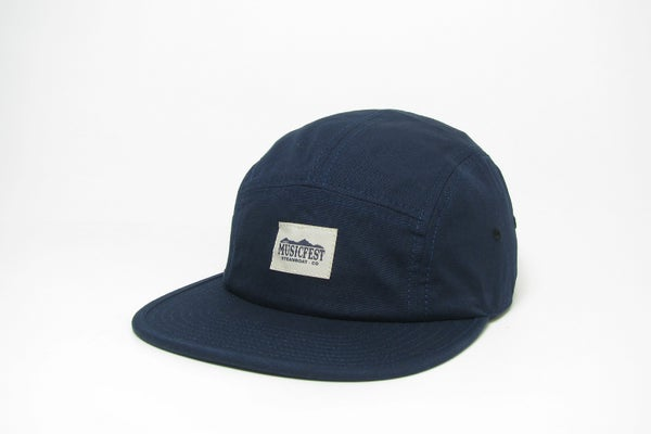Image of Navy Woven Label Hat