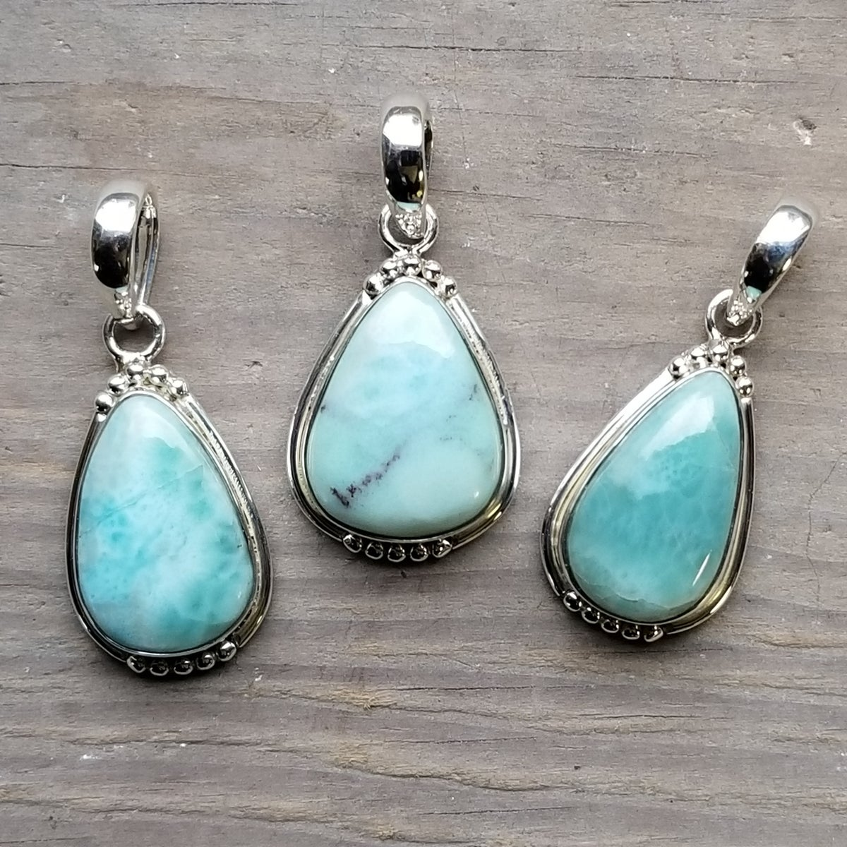 Image of Sweet Simplicity Pendants - Larimar in Sterling