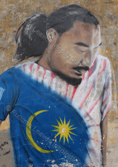 Image of T26 Football player street art Malaysia
