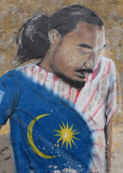 Image of T26 Football player street art Malaysia