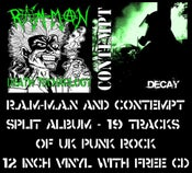 "Image of 'DECAY' 12"" VINYL & FREE CD (SPLIT WITH R.A.M-M.A.N)"