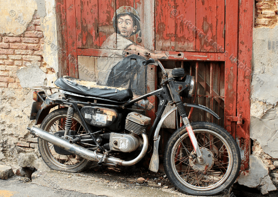 Image of T10 Motorcycle street art Malaysia