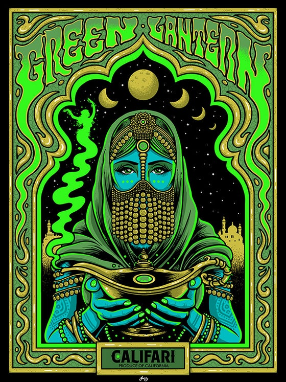 "Image of ""GREEN LANTERN"" - Califari strain art print - 2020"