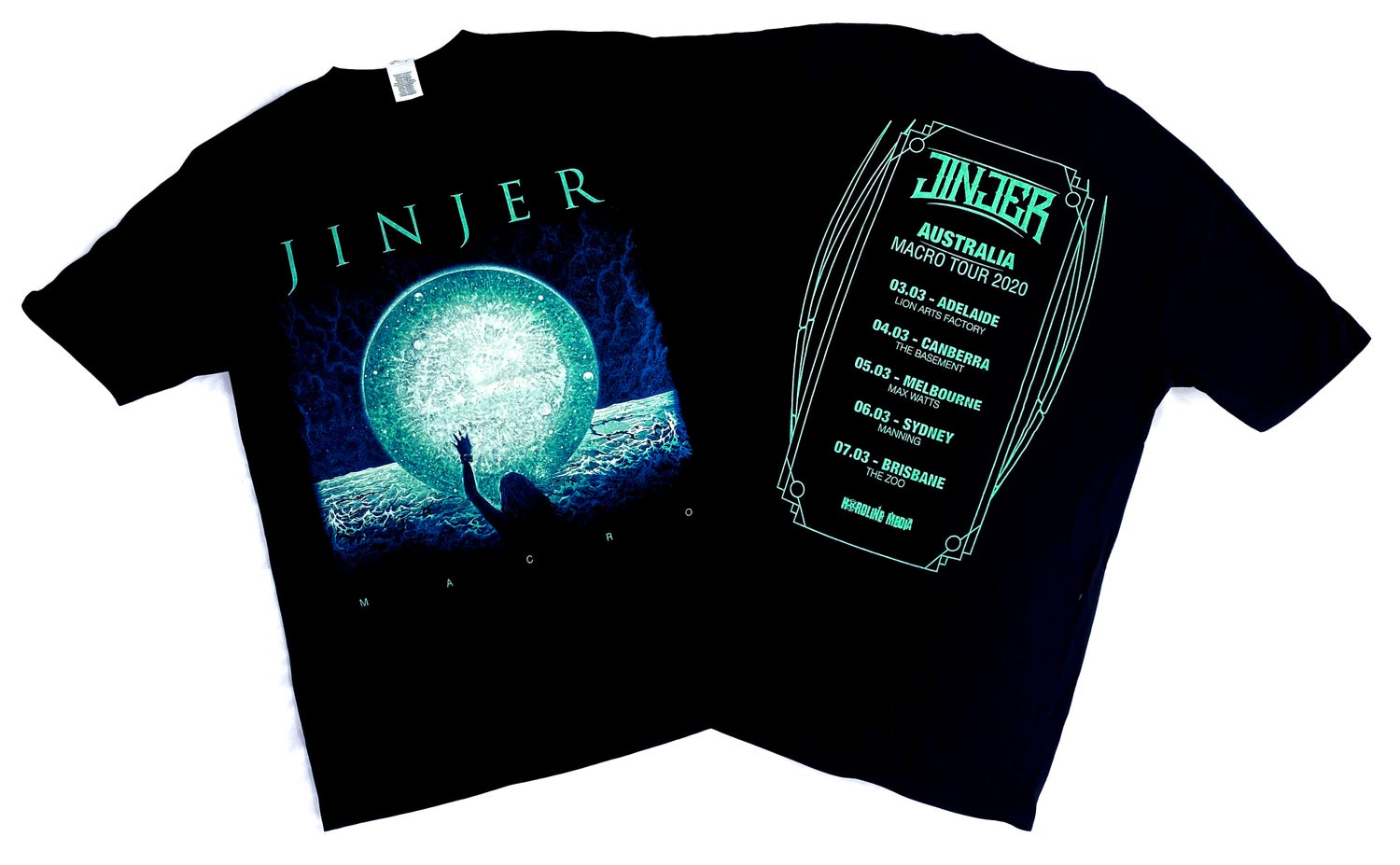 Image of JINJER - Macro - Aussie Tour Shirt