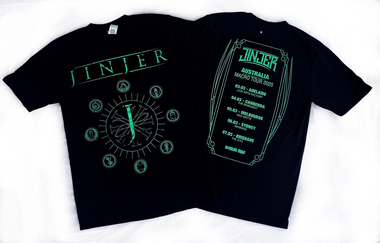 Image of JINJER - Jeometry - Aussie Tour Shirt