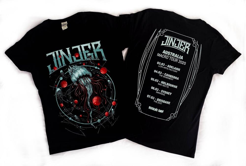 Image of JINJER - Microverse - Aussie Tour Shirt - Ladies Cut