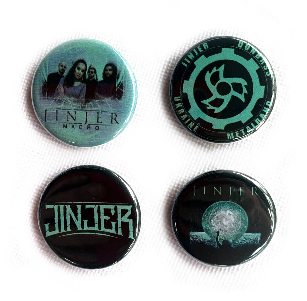 Image of JINJER - Macro Aussie Tour - Badges/Buttons - Set of 4 designs