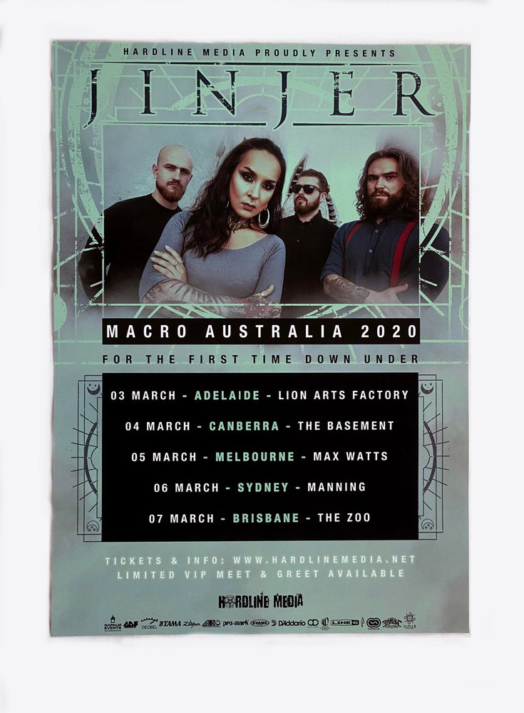 Image of Jinjer - 'Macro' Australian Tour Poster 2020 - A3 - Unsigned