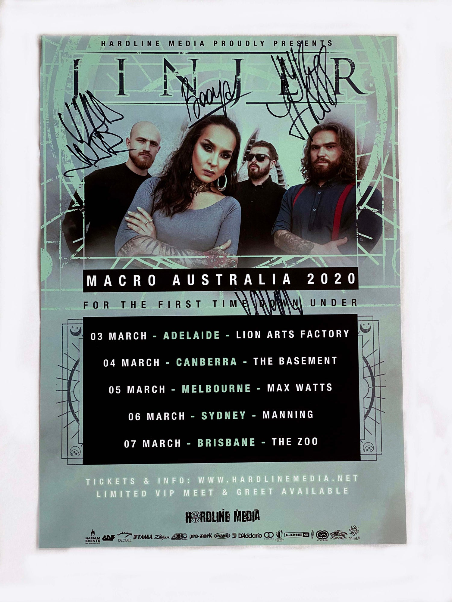Image of Jinjer - 'Macro' Australian Tour Poster 2020 - A3 - Signed