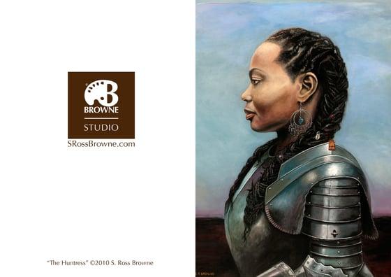"Image of ""The Huntress"" Greeting Card"