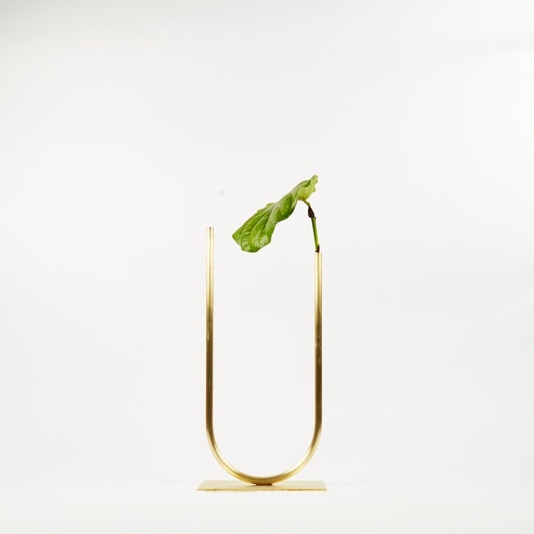 Image of Vase 01222 - Uneven U Vase for Fine/Medium stemmed foliage