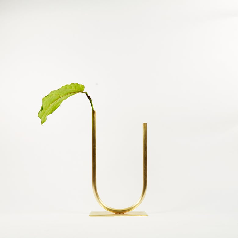 Image of Vase 01224 - Uneven U Vase for Medium/Thick stemmed foliage