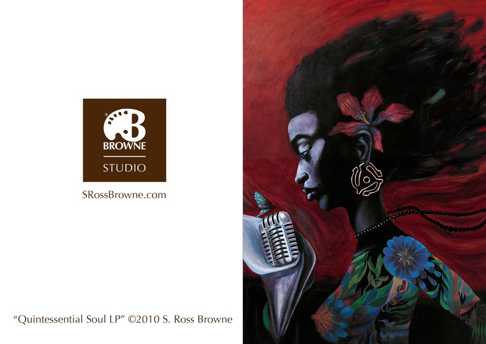 "Image of ""Quintessential Soul LP"" Greeting Card"