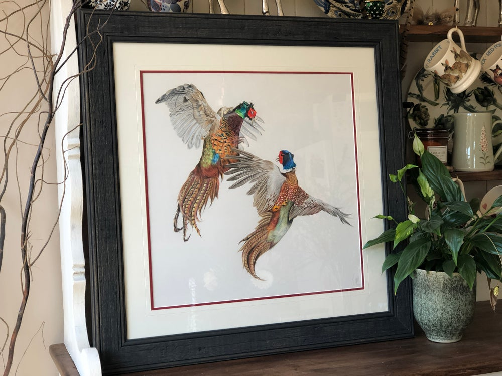 Image of 'Fighting Pheasants' original
