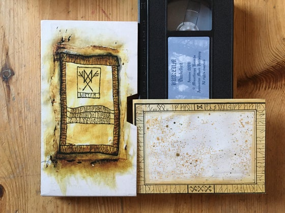 Image of Burzum vhs with art