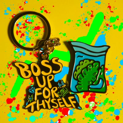 Image of BOSS UP Keychain/ Dime bag Lapel pin