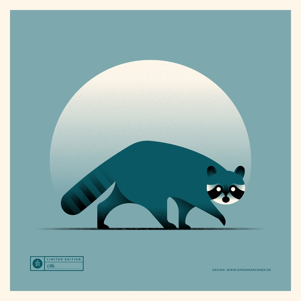 Image of Raccoon Blue Version